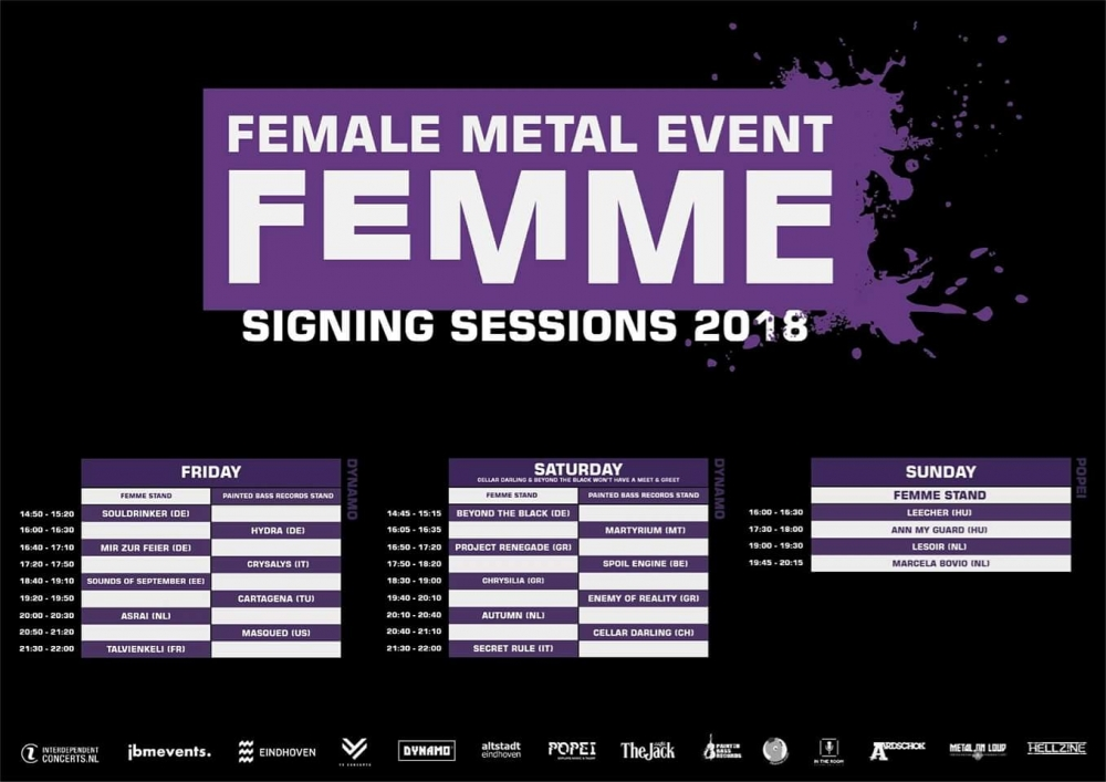 Femme 2018 signing sessions announced